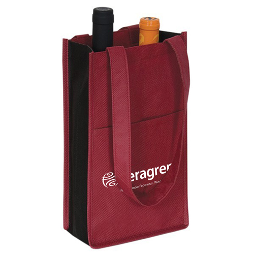 Eco-Friendly 2-Bottle Wine Bag Image 2
