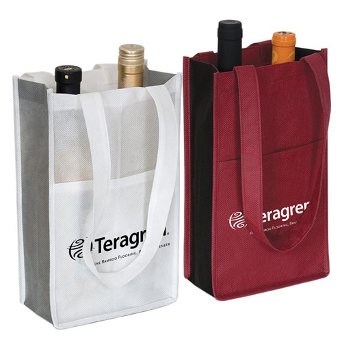 Eco-Friendly 2-Bottle Wine Bag Image 3
