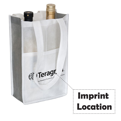 Eco-Friendly 2-Bottle Wine Bag Imprint Image
