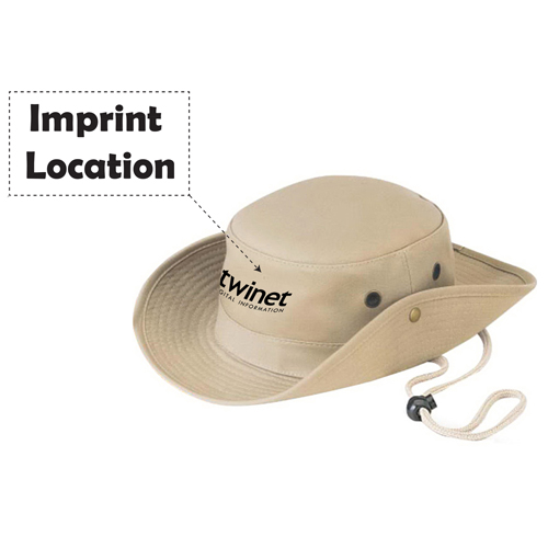 Cotton Twill Hunting Bucket Hat Imprint Image