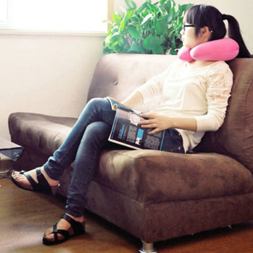 Inflatable Portable U-Shaped Neck Pillow Image 1