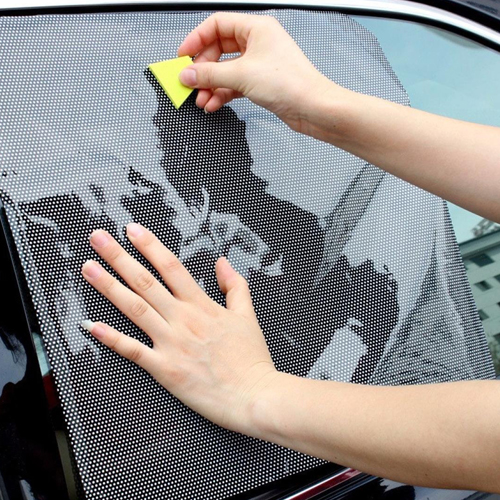 Rear Window Car Static Cling Sun Shade Image 3