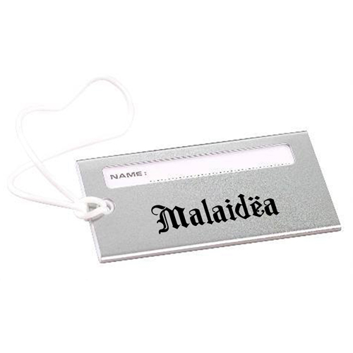 Bright Metallic Luggage Tag Image 3