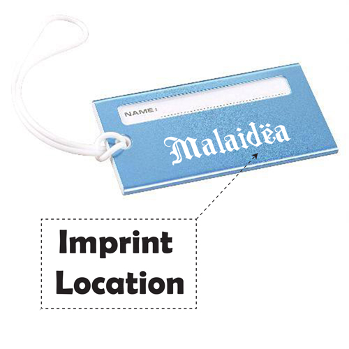 Bright Metallic Luggage Tag