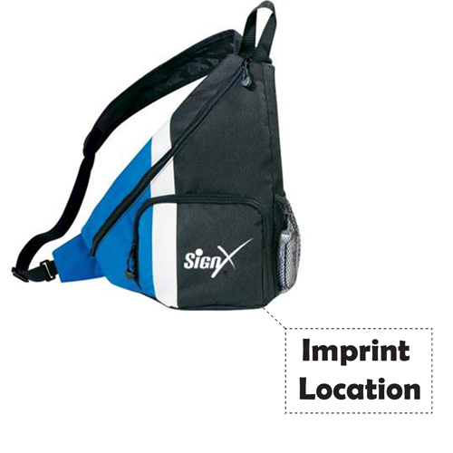 Side Dip Sling Backpack With Cross Strap Imprint Image