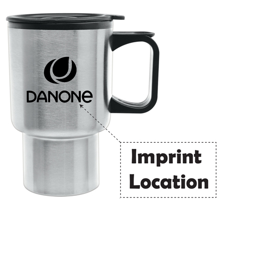 Stainless Steel 14 Oz Travel Mug Imprint Image