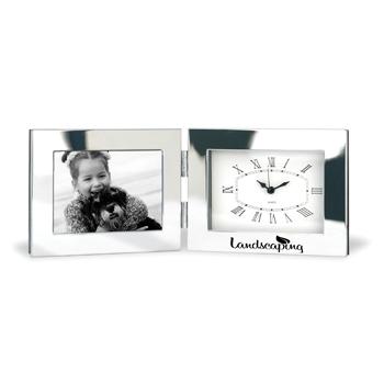 Horloge de bureau pliante avec cadre photo