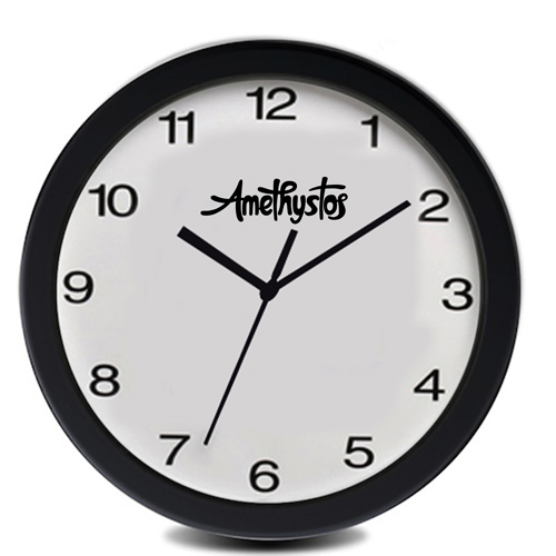 Personalized 12 Inch Oversized Wall Clock Image 2