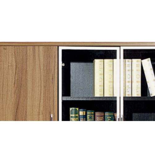 Classic Wooden Office Bookshelves Cabinet Image 9