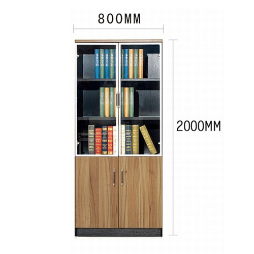 Classic Wooden Office Bookshelves Cabinet Image 11
