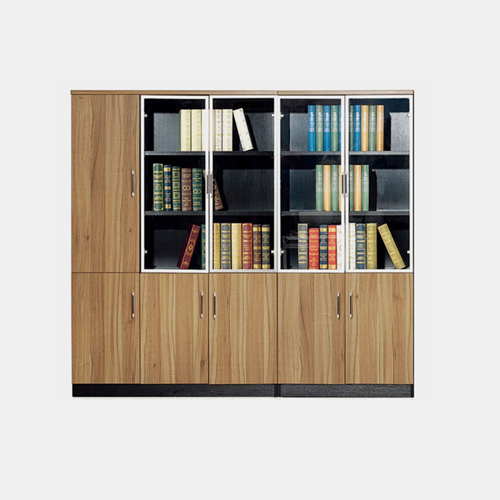 Classic Wooden Office Bookshelves Cabinet Image 2