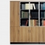 Classic Wooden Office Bookshelves Cabinet Image 5