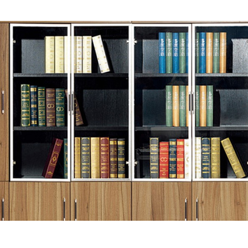 Classic Wooden Office Bookshelves Cabinet Image 7