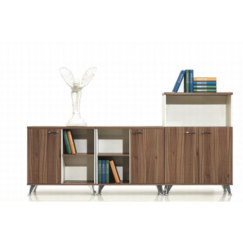 Short Solid Wood File Cabinet
