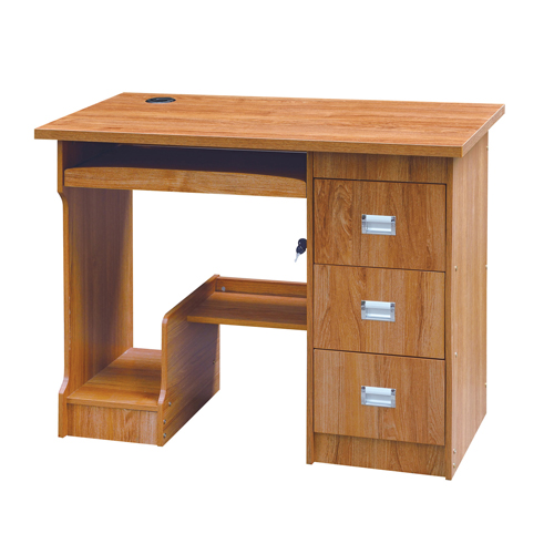 Natural Finish 3 Drawer Computer Table