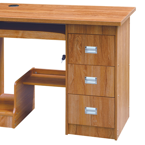 Natural Finish 3 Drawer Computer Table Image 3