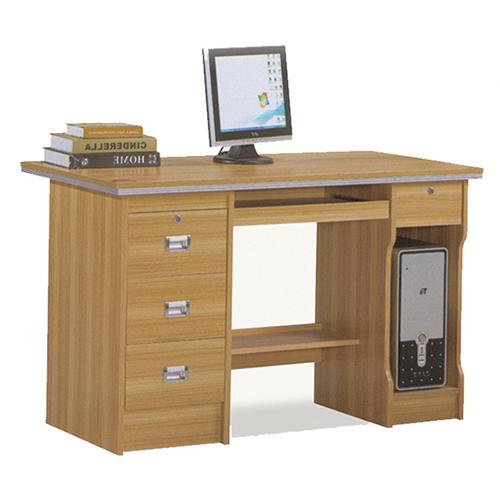 Pedlid Three Drawer Desktop Computer Desk