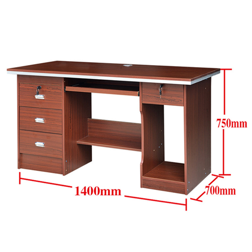 Pedlid Three Drawer Desktop Computer Desk Image 8