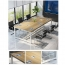 Modern Conference Table With Wood Strip Binding Image 13