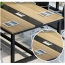 Modern Conference Table With Wood Strip Binding Image 16