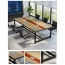 Modern Conference Table With Wood Strip Binding Image 6