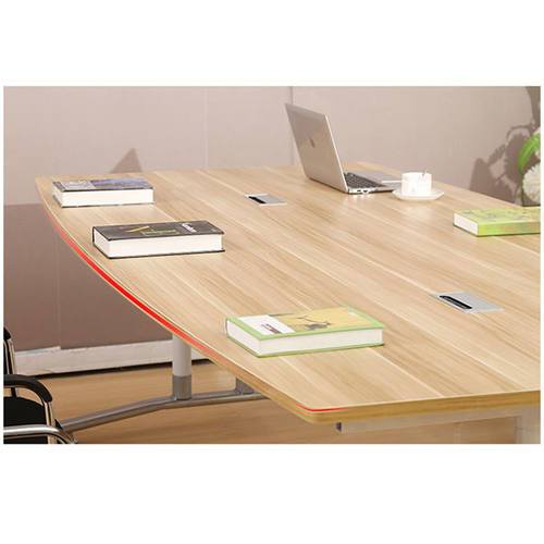 Oval Conference Table with Wire Box Image 10