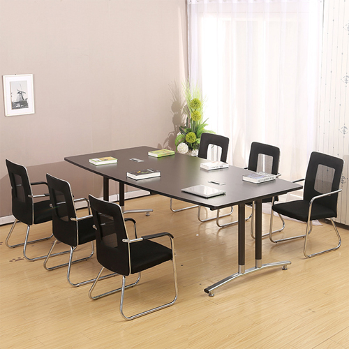 Oval Conference Table with Wire Box Image 1