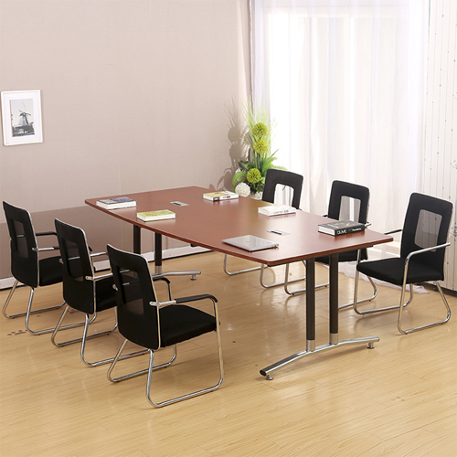 Oval Conference Table with Wire Box Image 2