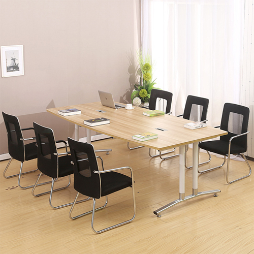 Oval Conference Table with Wire Box Image 3