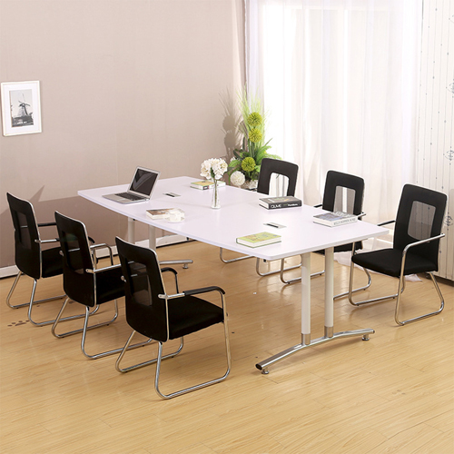 Oval Conference Table with Wire Box Image 4