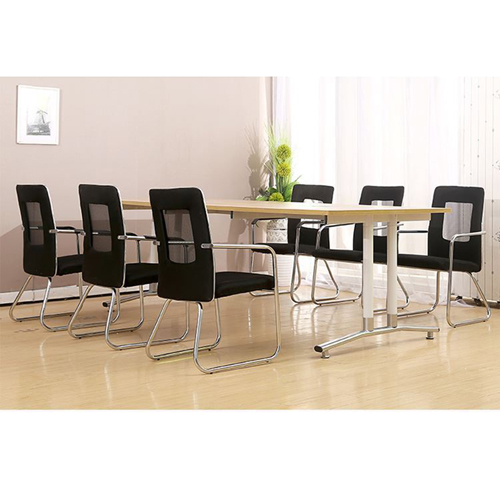 Oval Conference Table with Wire Box Image 7