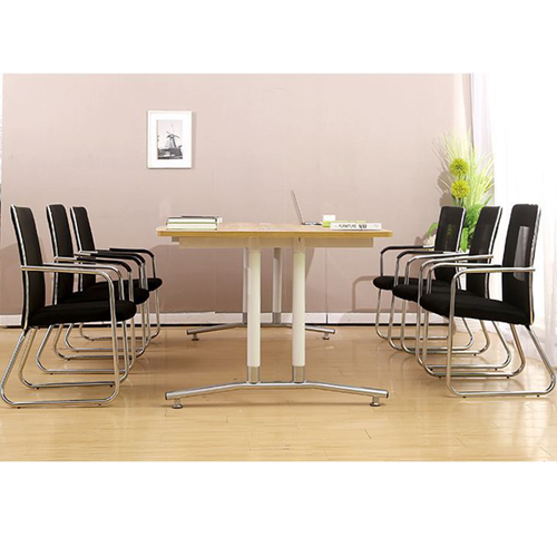 Oval Conference Table with Wire Box Image 8