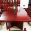Wooden Conference Table With Leather Lining Image 1