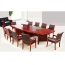 Wooden Conference Table With Leather Lining Image 2