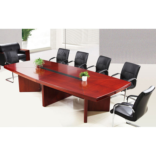 Wooden Conference Table With Leather Lining Image 3
