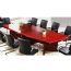 Wooden Conference Table With Leather Lining