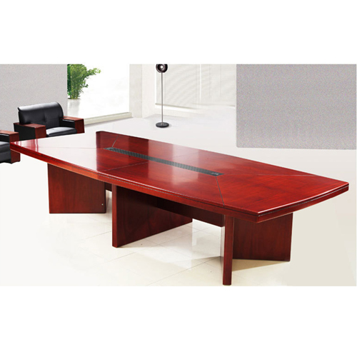 Wooden Conference Table With Leather Lining Image 5