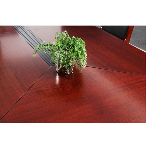 Wooden Conference Table With Leather Lining Image 6
