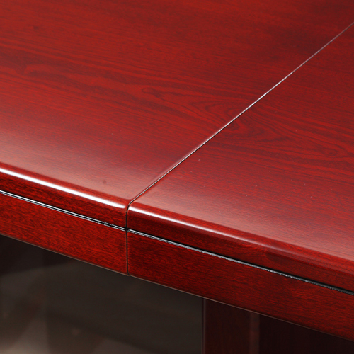 Wooden Conference Table With Leather Lining Image 7