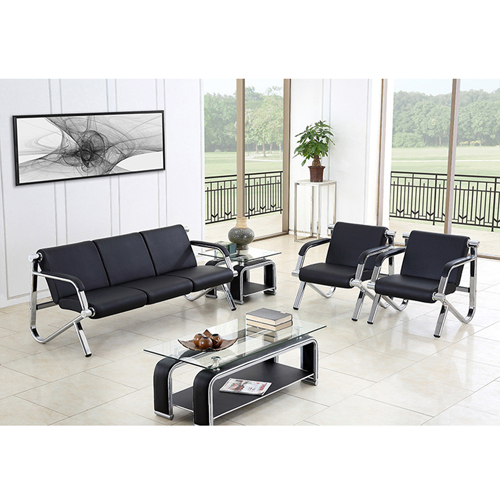 Loopy Office Leather Sofa Set Image 1