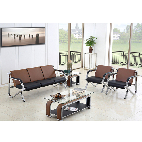 Loopy Office Leather Sofa Set Image 3