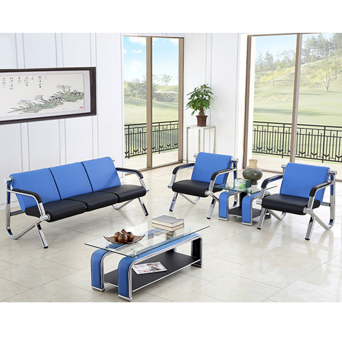 Loopy Office Leather Sofa Set Image 6