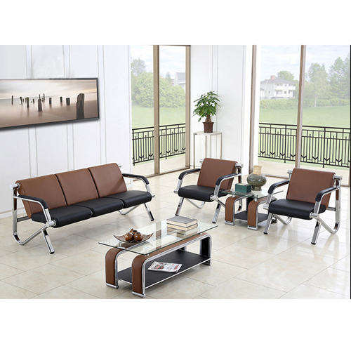 Loopy Office Leather Sofa Set Image 7