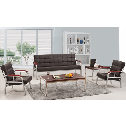 Quencha Office Waiting Leather Sofa Set