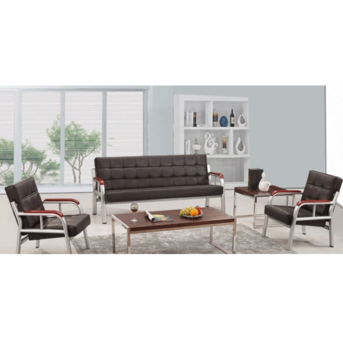 Quencha Office Waiting Leather Sofa Set Image 2