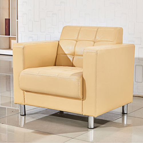 Sleeky Leather Reception Guest Sofa Set Image 15