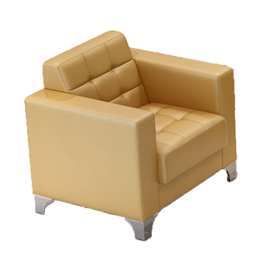 Sleeky Leather Reception Guest Sofa Set Image 17