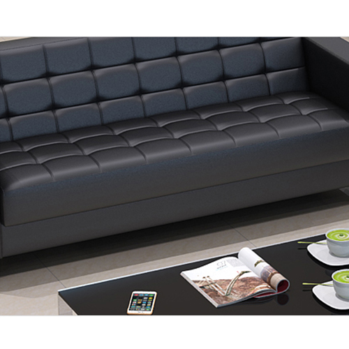 Sleeky Leather Reception Guest Sofa Set Image 21