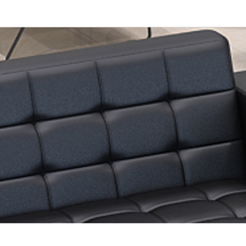 Sleeky Leather Reception Guest Sofa Set Image 23