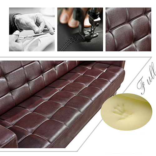 Sleeky Leather Reception Guest Sofa Set Image 24